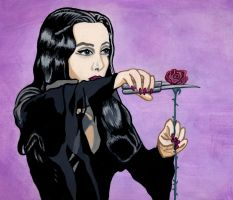 Morticia Addams by NikkiMcB
