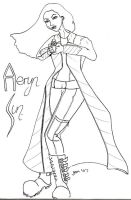 Farscape Doodling - Aeryn Sun by jeminabox