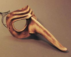 Zanni Leather Mask by TomBanwell