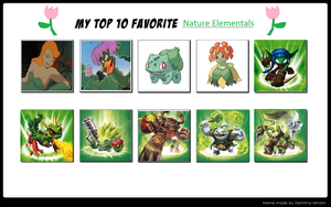 My Top 10 Favorite Nature Elementals by Toongirl18