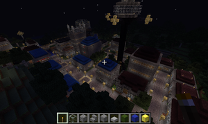 Minecraft: New Terrawood City at Night by C-MaxisGR