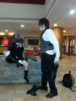 sebastian should help Ciel with his shoes by CosplayCrazyProducti