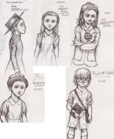 Heroine Sketches by Desgan