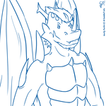 Again in Gravity form | Drako TLOTC random lineart by G3Drakoheart-Arts