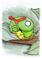 Caterpie Sketch Card by melllic