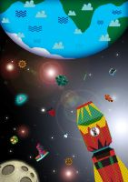 6. Up Up to Planet Earth by BaldwiNurmilam