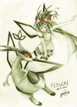 Pokemon December Challenge - Day 5 Flygon by lucidskies