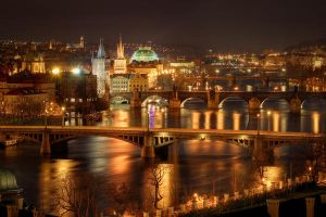 Prague Bridges, Czech Republic by petrklapper