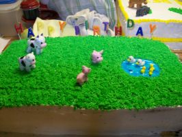 Farm Animal Cake by AbstractAttic