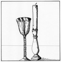 Goblet and Candle Pen 4 by alanahawk