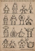 Sketchbook ROBOTZ Concepts 1 by radu-jm