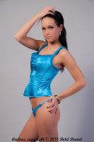 LittleMama Blue Corset, Thong by BoldDaniel