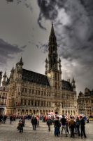 Cloudy sky in Brussels by Me-Myself-And