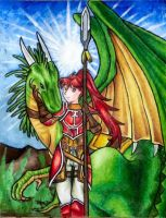 Jill and her Wyvern by Zeldagal