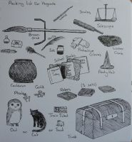 packing list for hogwarts by eatingmoonlight