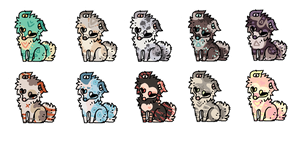 Puppy Adopts (5 LEFT, DISCOUNTED!) by Xecax