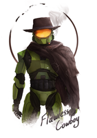 'Flawless Cowboy' - Halo T-shirt design by QeNos