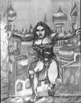 WENCH concept art page9 Day5 Pencil Drawing Comple by SpiritedFool
