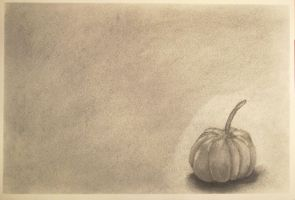 Lonely Pumpkin by mrevilrose