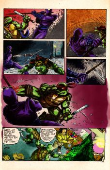 Ninja Turtle V.S The Foot by Crockard