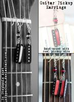 Guitar pickup earrings by copperrein