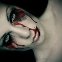 yes she does bleed by TrishaMonsterr