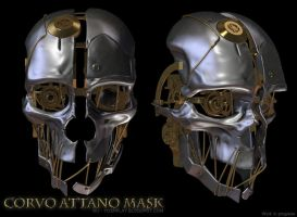 Corvo Attano Dishonored Mask - WIP 02 by mogcaiz