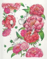 Peonies Lapins by chanelharris