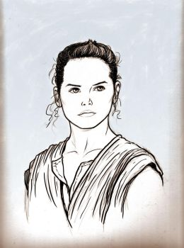 Rey from Star Wars: The Force Awakens by NMRosario