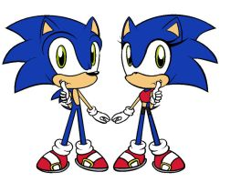 Sonic and Sonica by pinksonic42