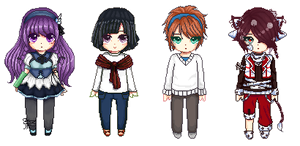 Pixel Commission Batch 3 by Buujang