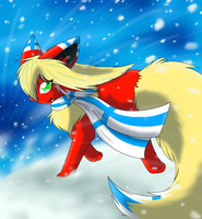 Running through the Snow by FlareAKACuteFlareon