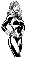 Alan Davis BLACK WIDOW Inks by PaulSizer