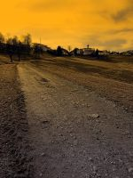 Path up to the village at evening by patrickjobst