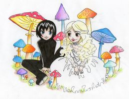 Akito + White Queen chibiness by Elsaaaa