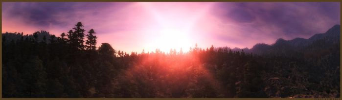 Blackwood Forest Panorama by MRBee30