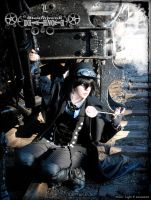 Steampunk Death Note: L Train by Maru-Light