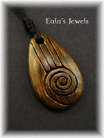 Heart of earth big drop pendant by Shatiel85