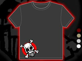 Skulheadface t-shirt design by fauxster
