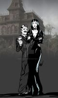 gomez and morticia by mad-flavor