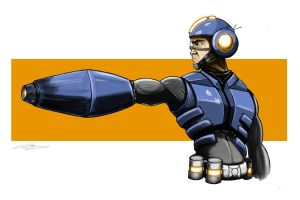 Megaman by Goins-Graphics