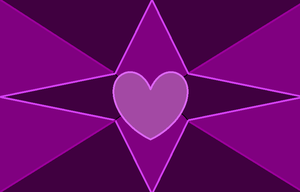 Purple Hearts and Stars by GothicRockerGirl