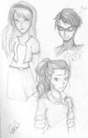 Megan, Robin and Fem!Bolin by BluberriePanda