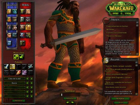 New Race WoW RoY: Vrykuls by LorenAinse