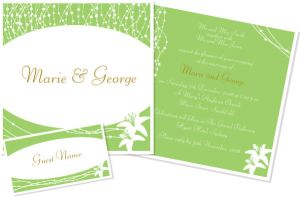 Wedding Invite - Lillies by jmillgraphics