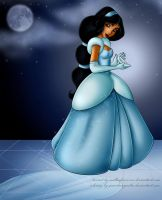 Jasmine as Cinderella by GuardianYashu