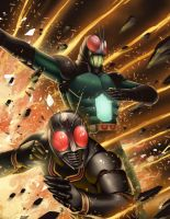 Masked Rider black and RX Rider by BrianFajardo