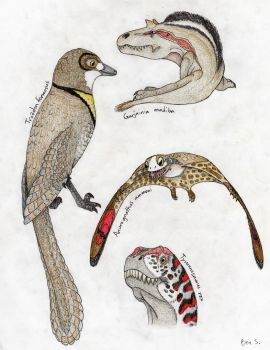 A Panoply of Prehistoric Creatures by Pterosaur-Freak