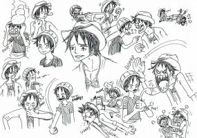 one piece, expressions. by heivais