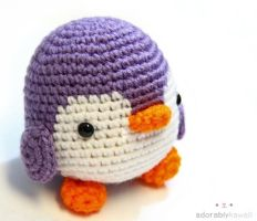 Purple Penguin by adorablykawaii